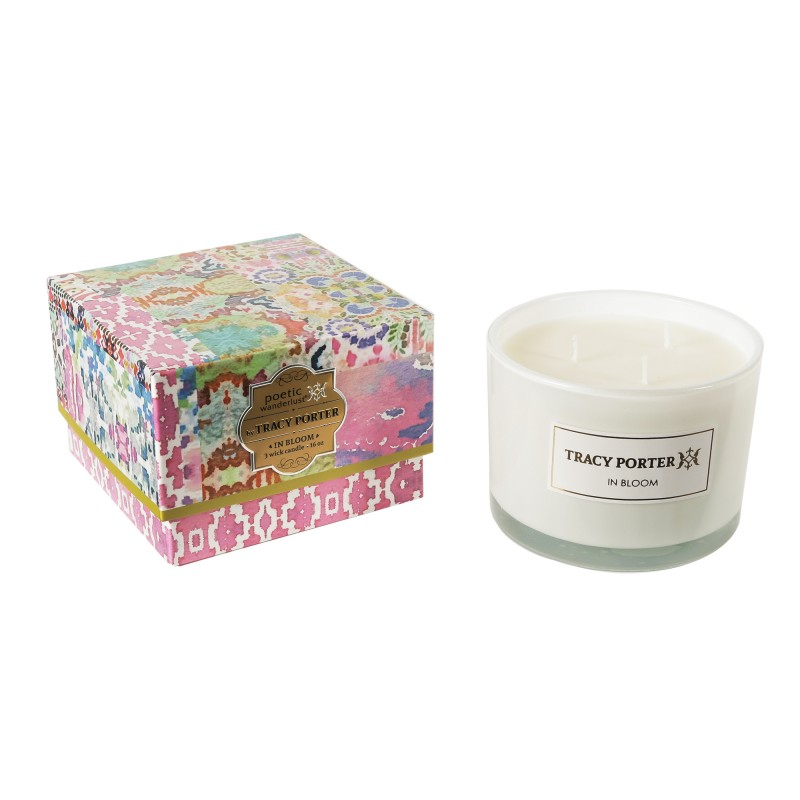 Tracy Porter In Bloom 3 Wick Candle 12.4 Ounces