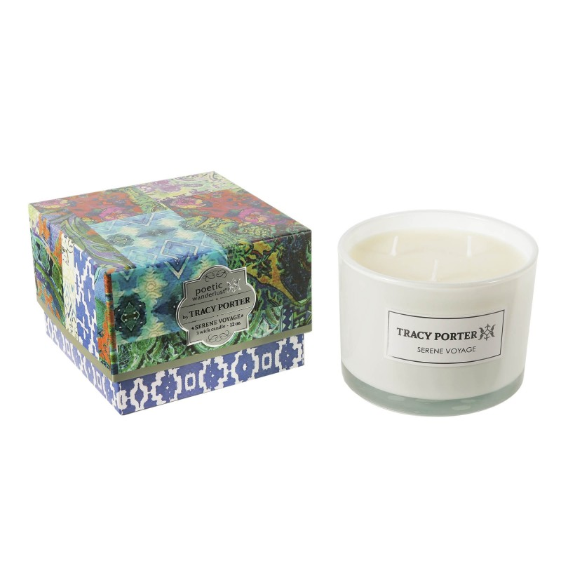 Tracy Porter Serene Voyage 3 Wick Candle 12 Ounces