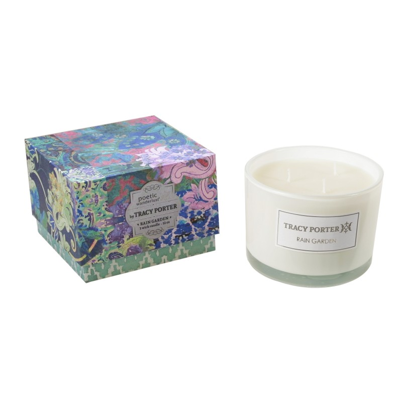 Tracy Porter Rain Garden 3 Wick Candle 12 Ounces