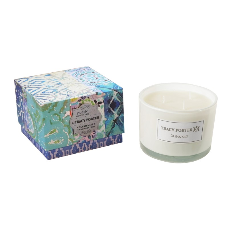 Tracy Porter Ocean Mist 3 Wick Candle 12 Ounces