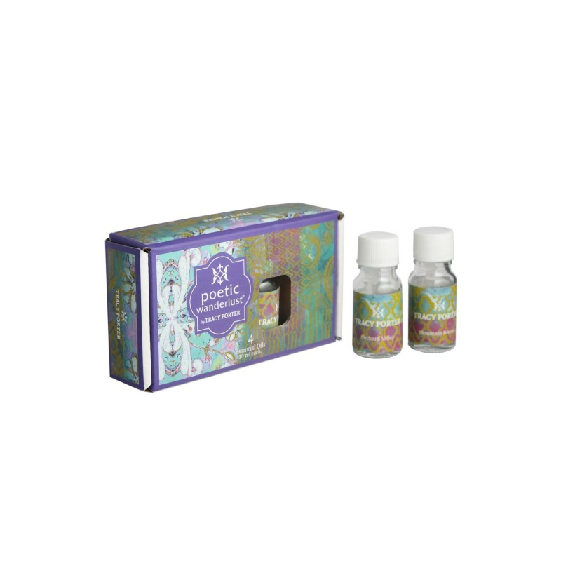 Tracy Porter Assorted 4 Essential Oils – Tangerine Citrus, Sweet Blossom, Cinnamon Bark and Spring Floral