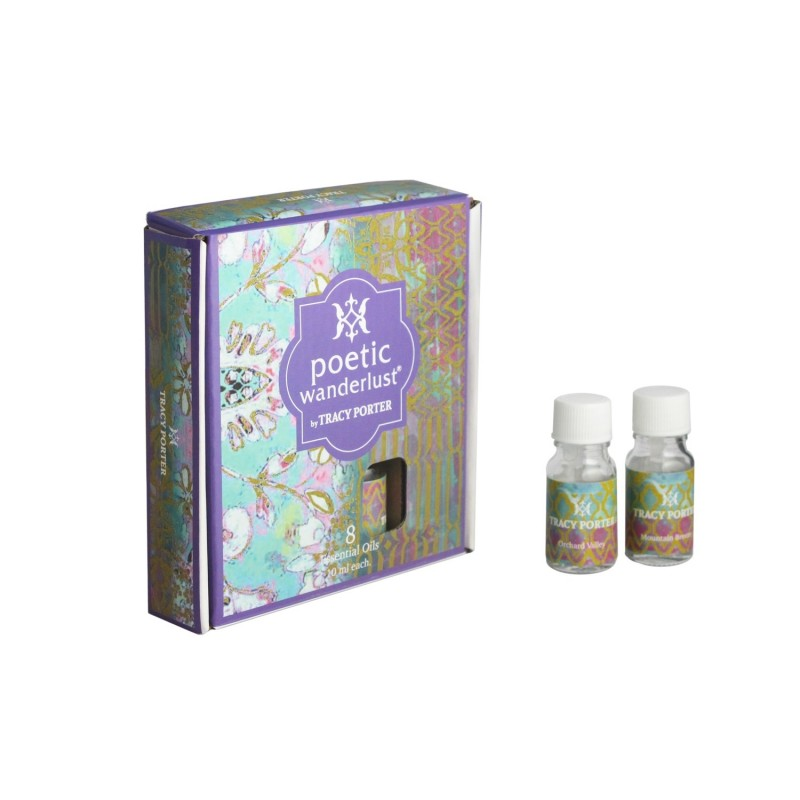 Tracy Porter Assorted 8 Essential Oils – Tangerine Citrus, Sweet Blossom, Cinnamon Bark and Spring Floral