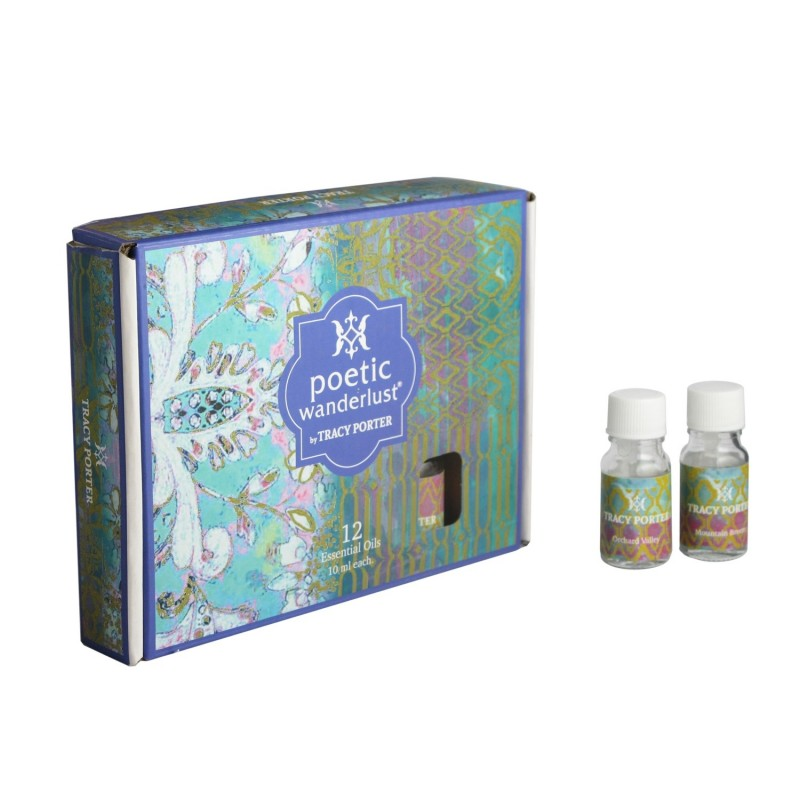 Tracy Porter Assorted 12 Essential Oils – Tangerine Citrus, Sweet Blossom, Cinnamon Bark and Spring Floral