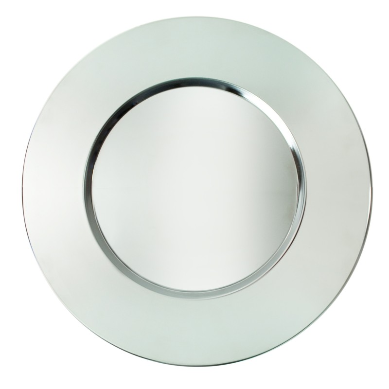 ChargeIt! by Jay Bridal Silver Metal Round Charger