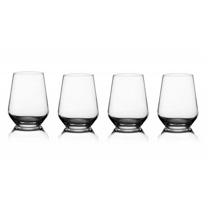 Style Setter Napa Set of 4 Stemless Wine Glasses