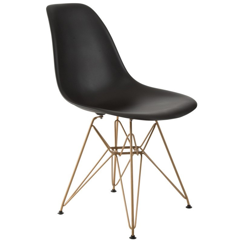 Design Guild Banks Chair with Gold Legs