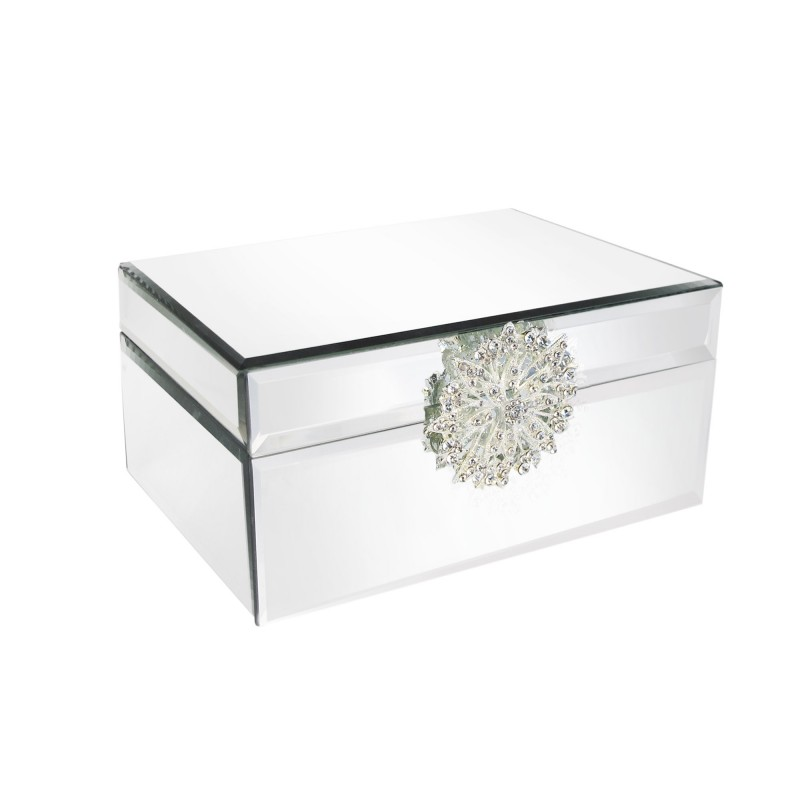 American Atelier Mirror Jewelry Box with Silver Brooch