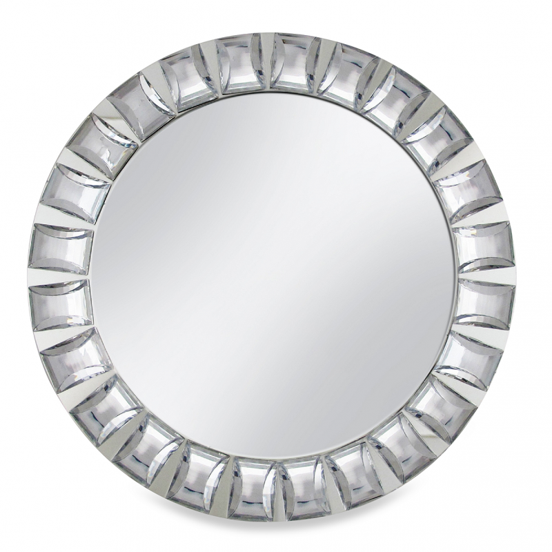 Chargeit by Jay Mirror Charger Plate with Big Beads
