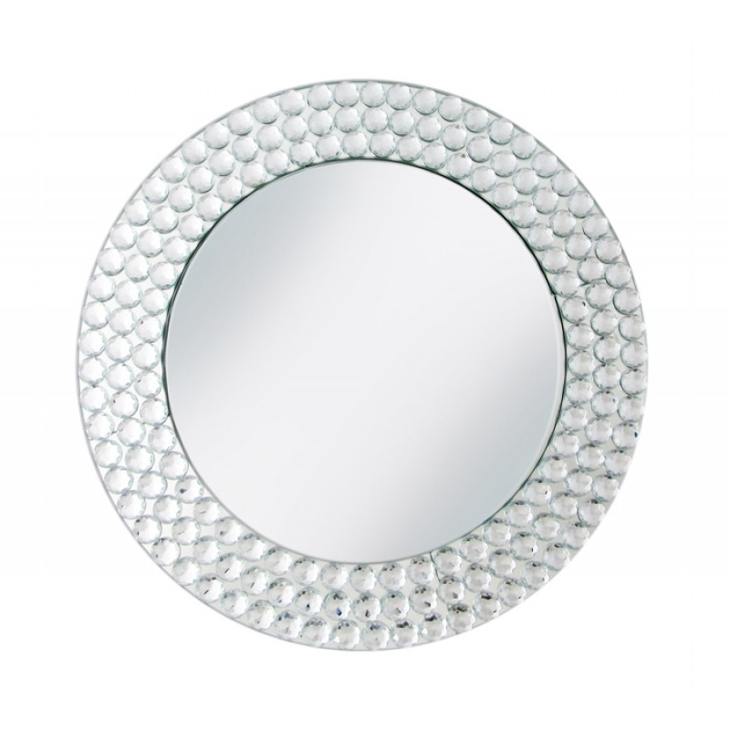 ChargeIt By Jay Charger Plate with Beads Mirror