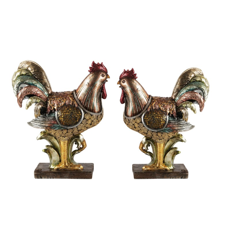 American Atelier Set of 2 Rooster Figurines