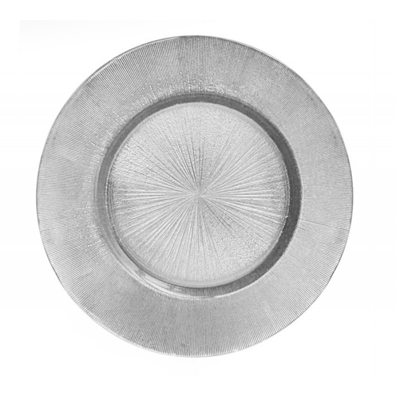 Charge it by Jay Light Antique Glass Charger Plate