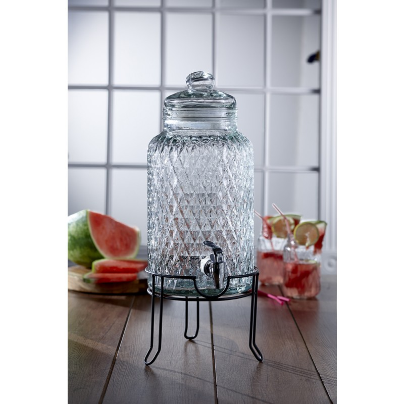 Style Setter Quilted Beverage Dispenser with Stand