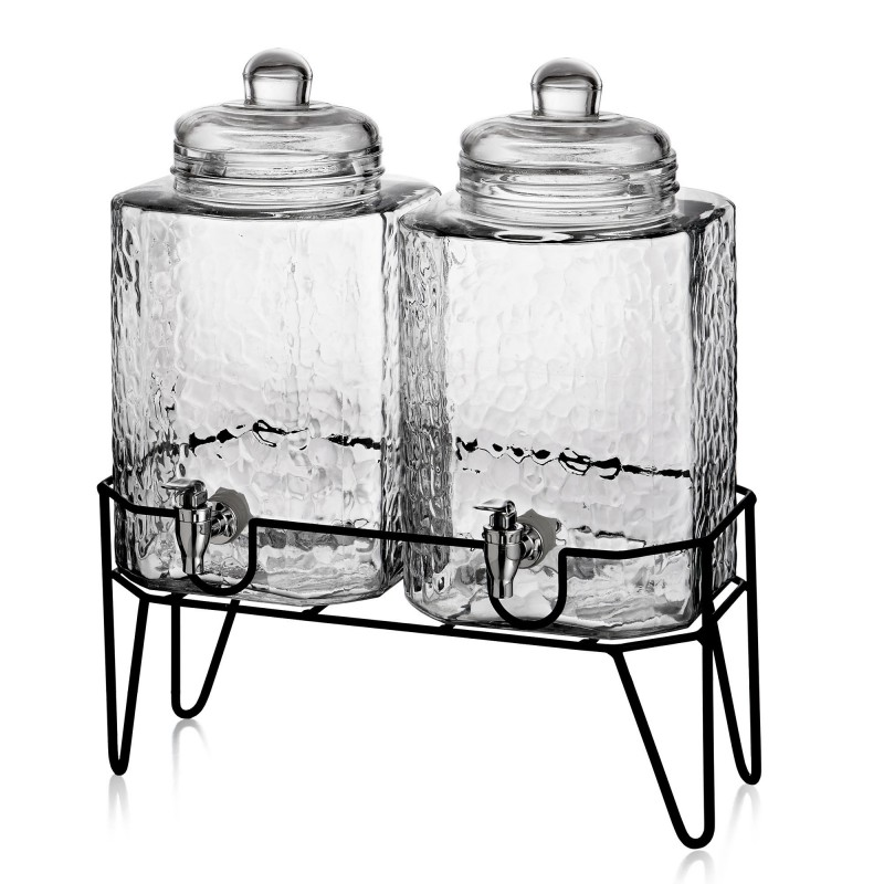 Style Setter Hamburg Set of 2 Beverage Dispensers with Stand