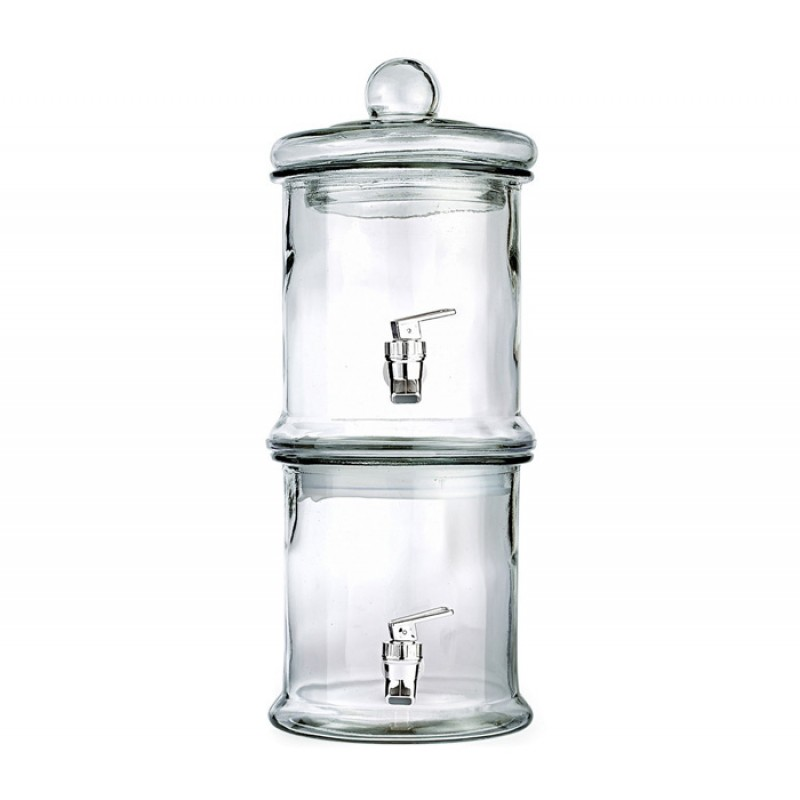 Style Setter Norfolk Glass Double Beverage Dispenser