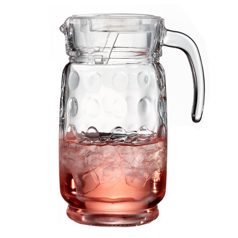 Style Setter Provence Glass Pitcher with Lid, Clear