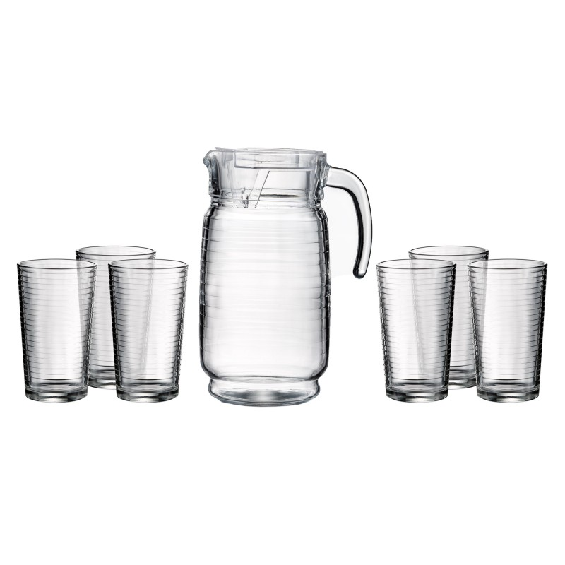 Style Setter Uptown 7 Piece Beverage Set with Pitcher