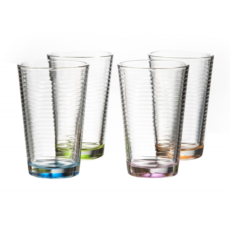 Style Setter Uptown Colors Set of 4 Highballs