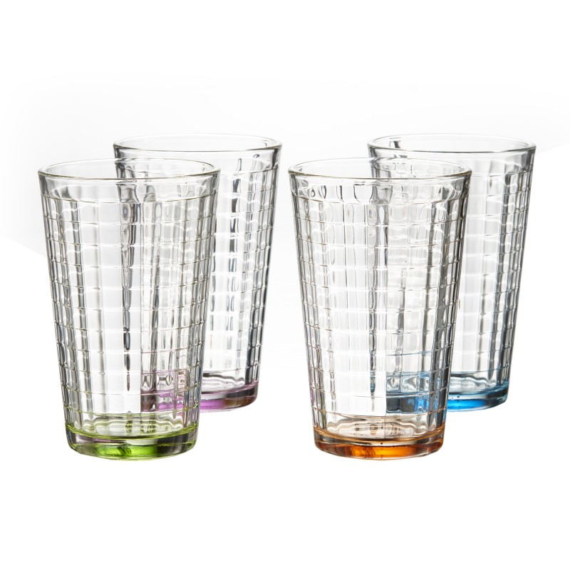 Style Setter Hoboken Colors Set of 4 Highball Set