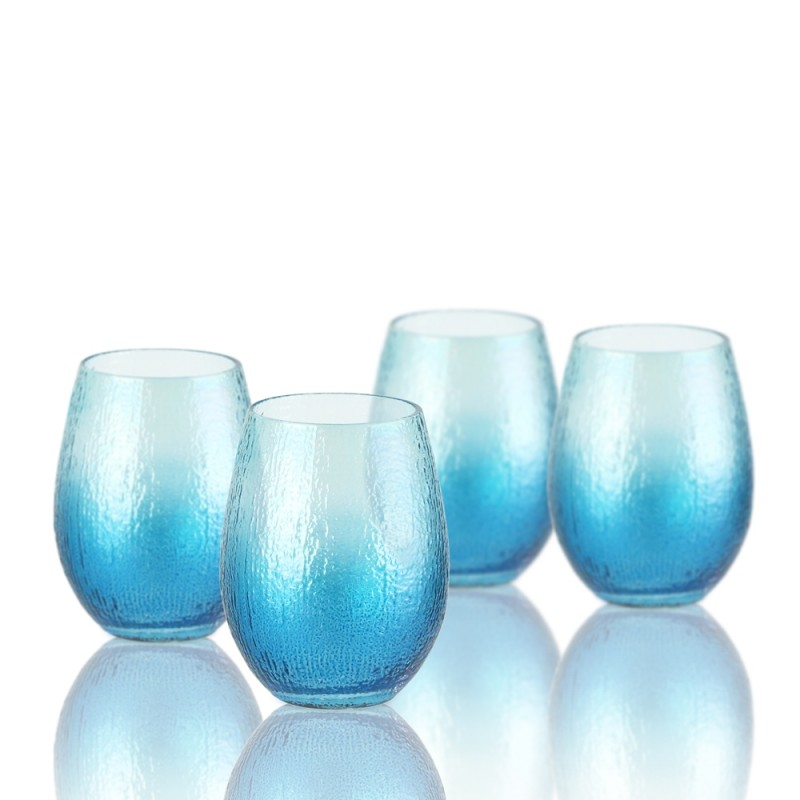 Ice Blue 229400-4JF Stemless Wine Glass Set of 4