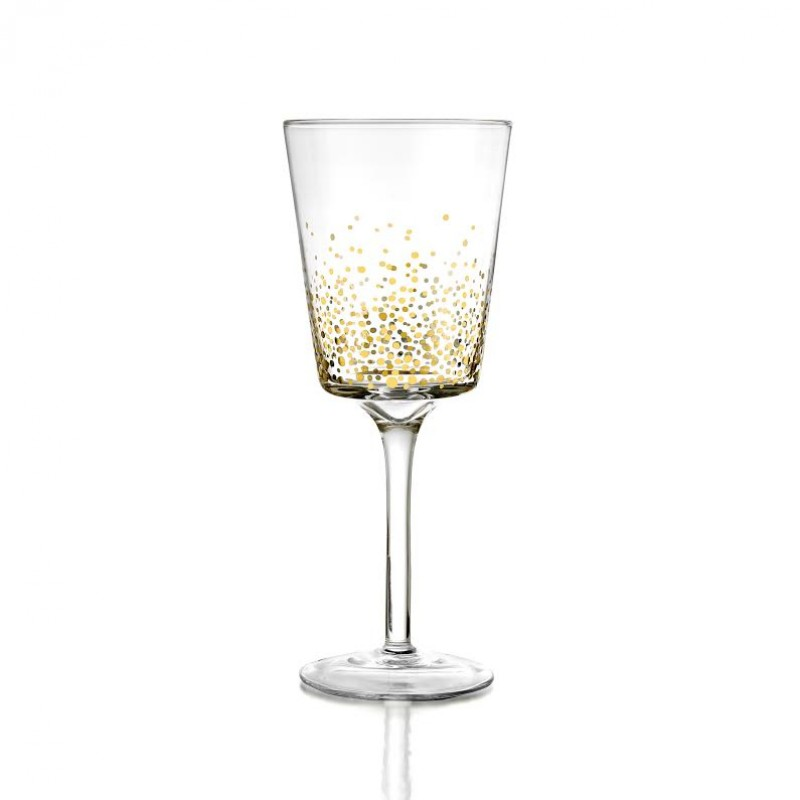 Fitz & Floyd Gold Luster Set of 4 White Wine Glasses