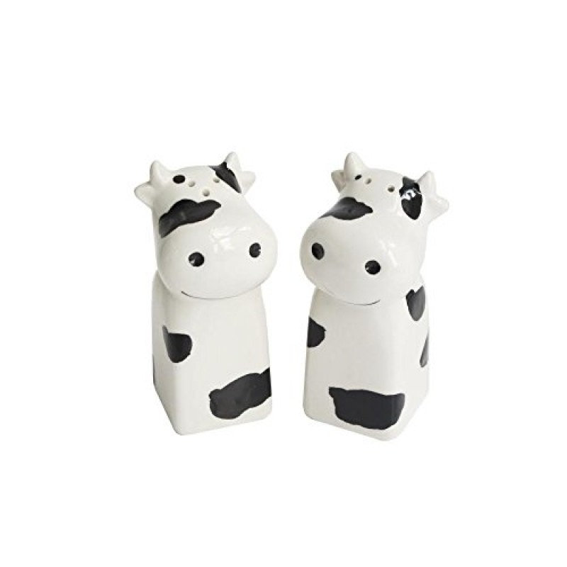 American Atelier Cow Salt & Pepper Shakers, White