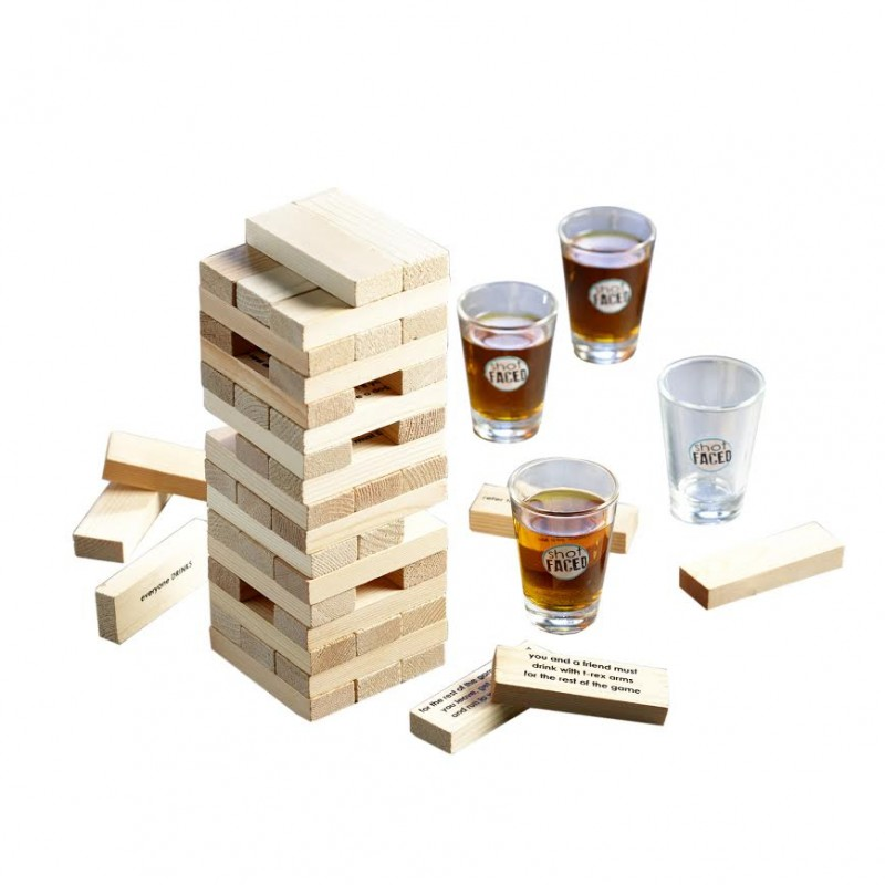 Tipsy Tower Drinking Shot Glass Game