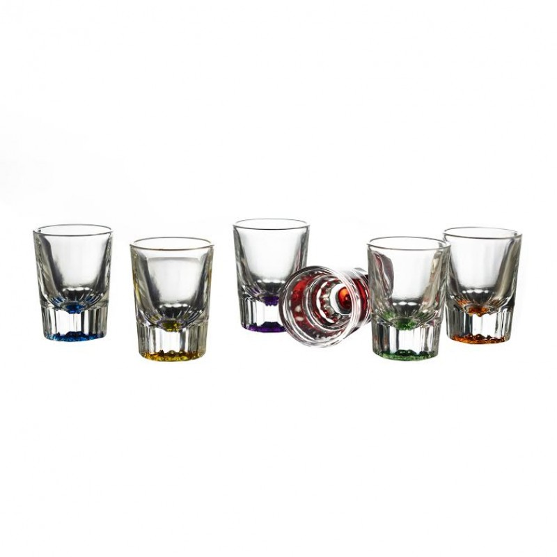 Style Setter Bryce Colors Set of 6 Shot Glasses