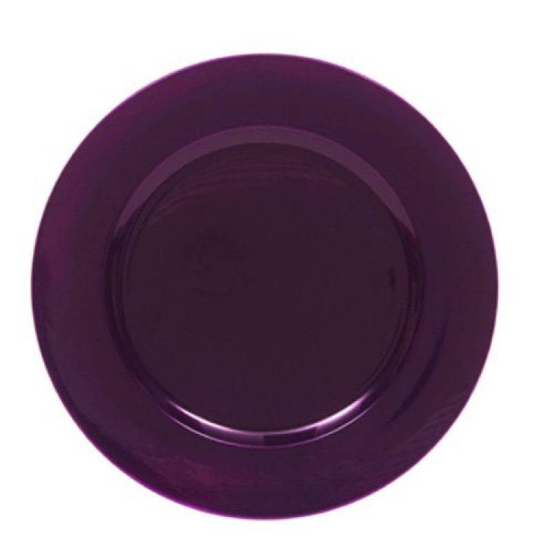 ChargeIt by Jay 1320085 Metallic Round Charger Plate, Purple