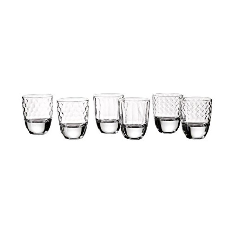 Style Setter Wyatt Shot Glasses (Set of 6), Clear
