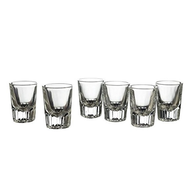 Style Setter Bryce Shot Glasses (Set of 6), Clear