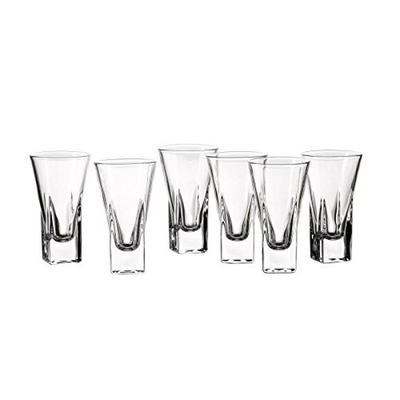 Style Setter Aiden Shot Glasses (Set of 6), Clear