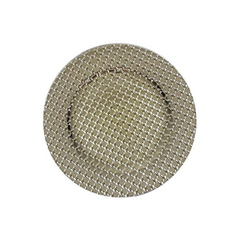 """Round Links Charger Plates 13"""" Diameter, Set of 4 - GOLD"""