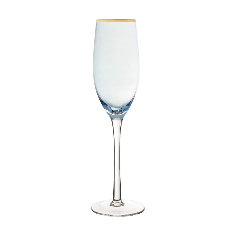 "Fifth Avenue Crystal 229351-4FL Vivienne Champagne Flutes (Set of 4), 2.7 x 2.7 x 10"", Blue"