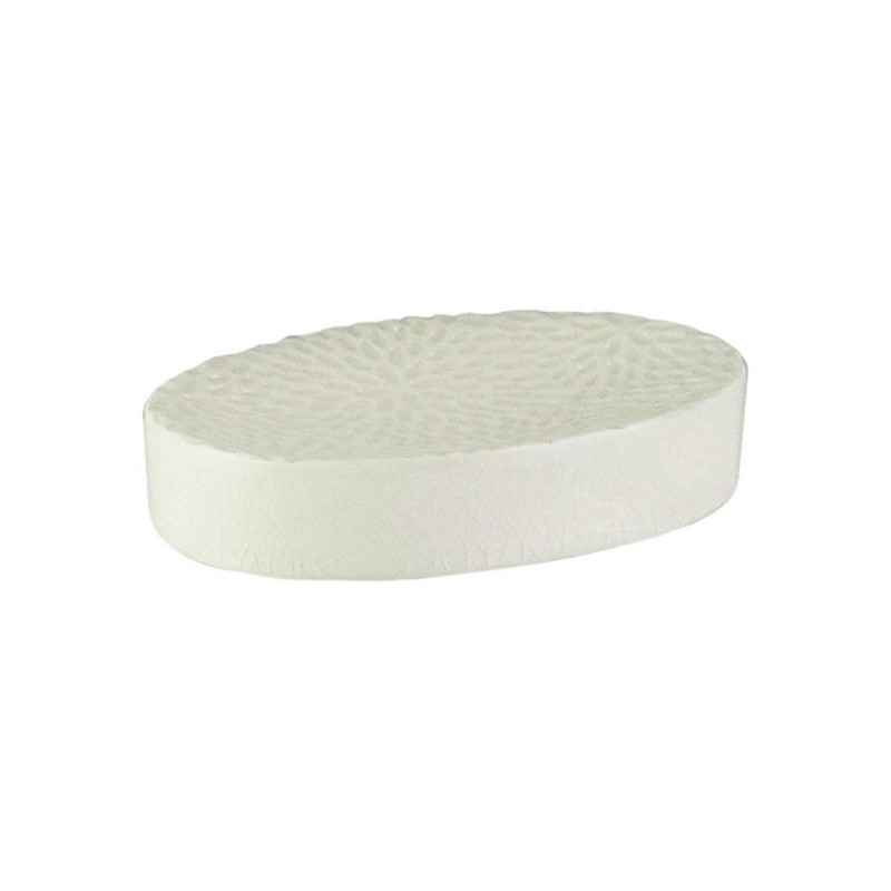American Atelier Bianca Crackle Ceramic Soap Dish - Cream