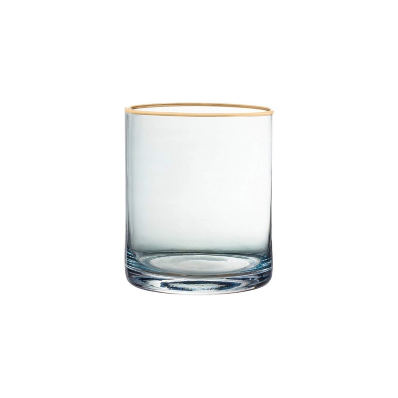 Fifth Avenue Crystal 229351-4OF Vivienne Old Fashion Glasses, 3 x 3 x 3.8, Blue