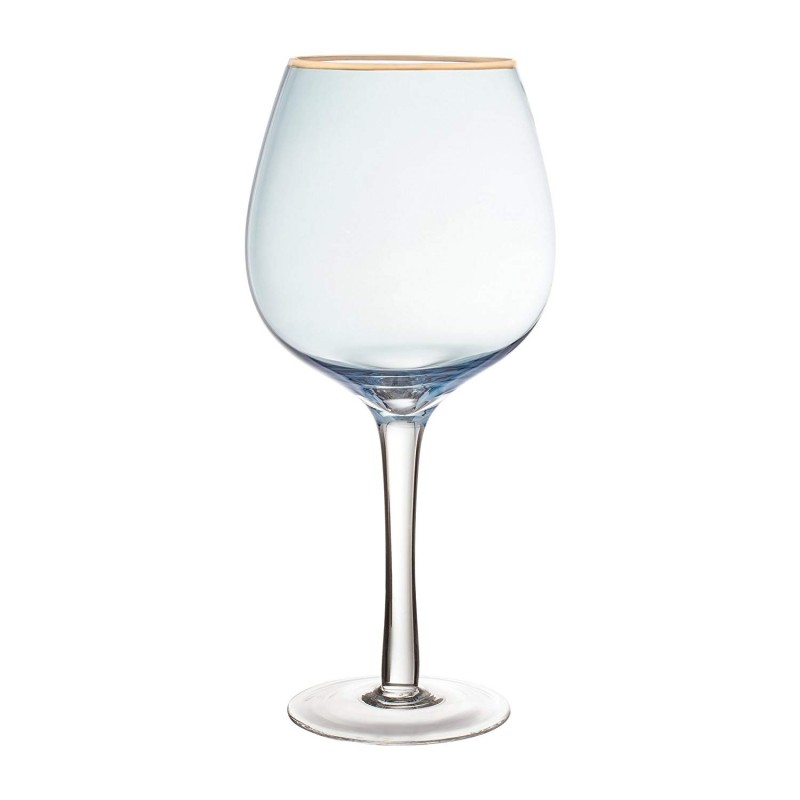Fifth Avenue Crystal 229351-4GO Vivienne Wine Glasses, 4 x 4 x 8.6, Blue