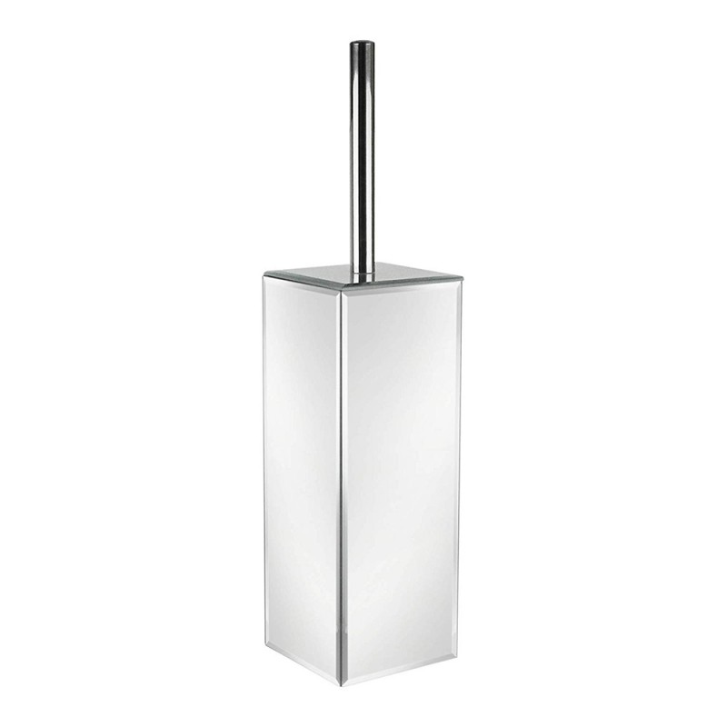 American Atelier Mirror Glass Square Bathroom Toilet Brush Holder