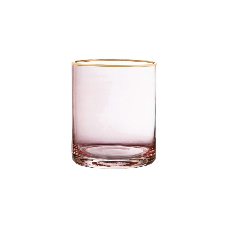 Fifth Avenue Crystal 229352-4OF Vivienne Old Fashion Glasses (Set of 4), 3 x 3 x 3.8, Pink
