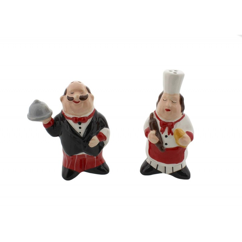American Atelier Chef Salt and Pepper Shakers, Multicolor