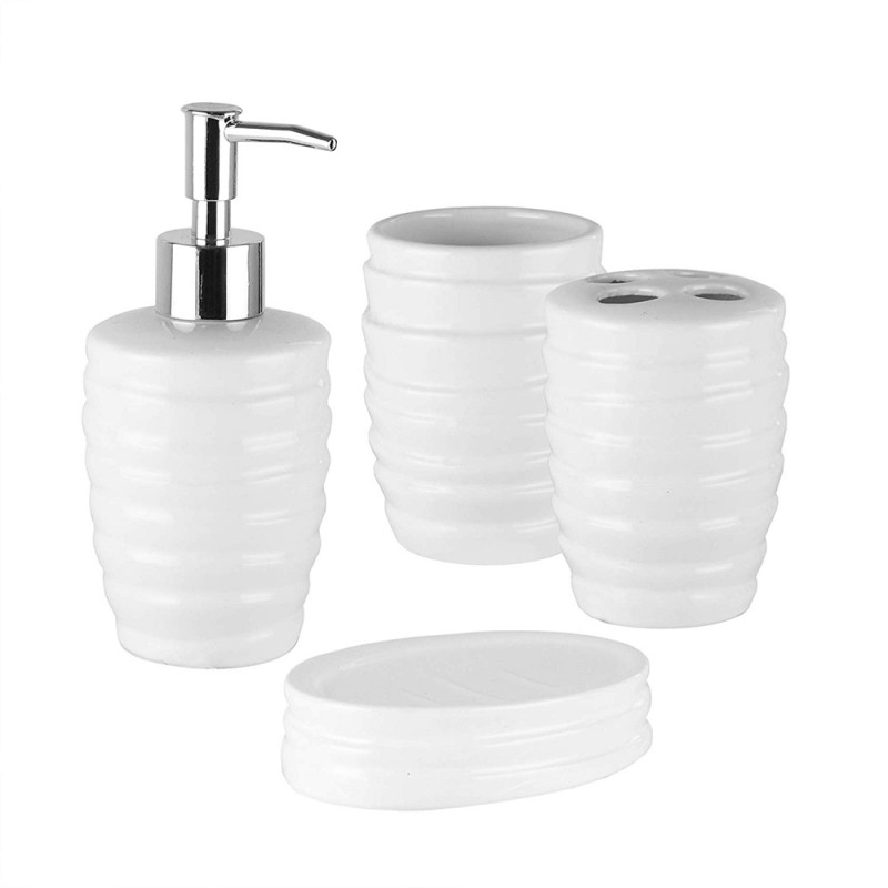 American Atelier Bath 1184527 White 4 Piece Bathroom Accessory Set