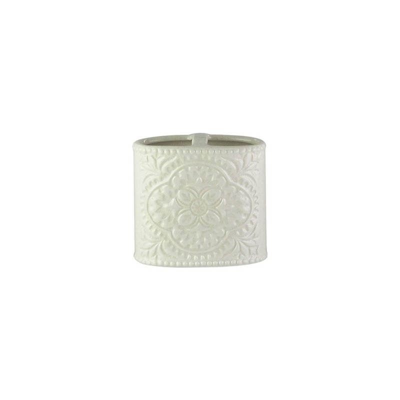 American Atelier 1184593 Bianca Crackle Ceramic Toothbrush Holder Cream