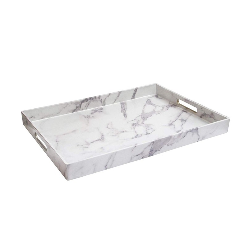 American Atelier 1270527 Marble Serving Tray - White