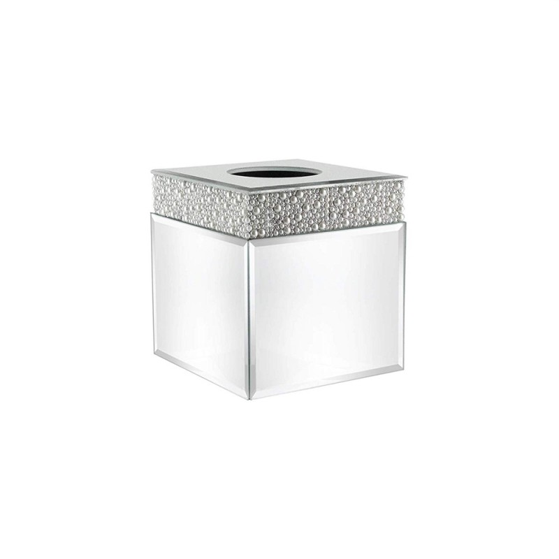 American Atelier Pearl Square Mirror Tissue Box Holder