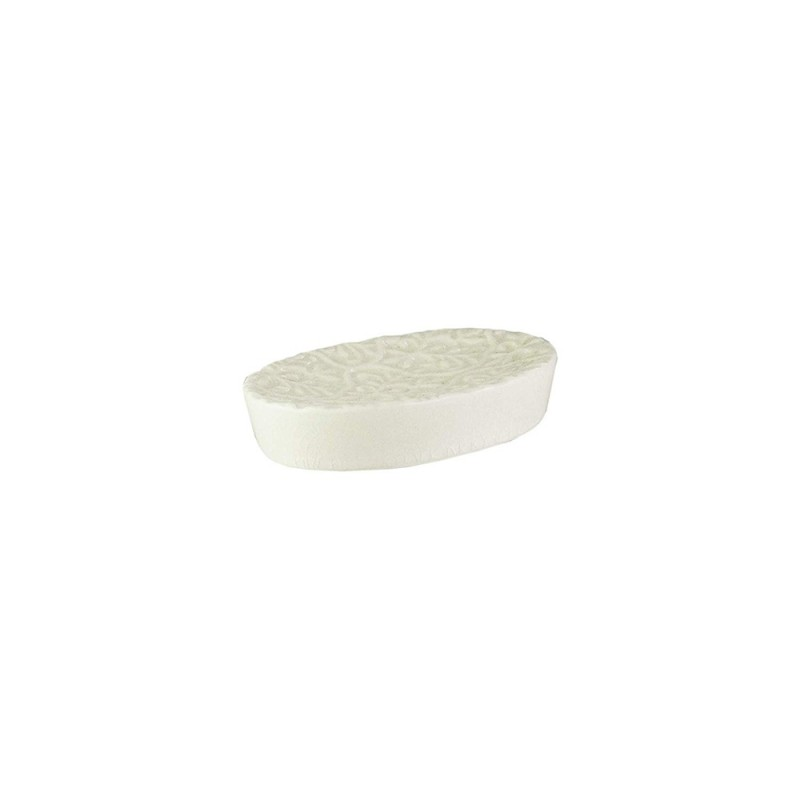 American Atelier Bianca Cream Crackle Ceramic Soap Dish