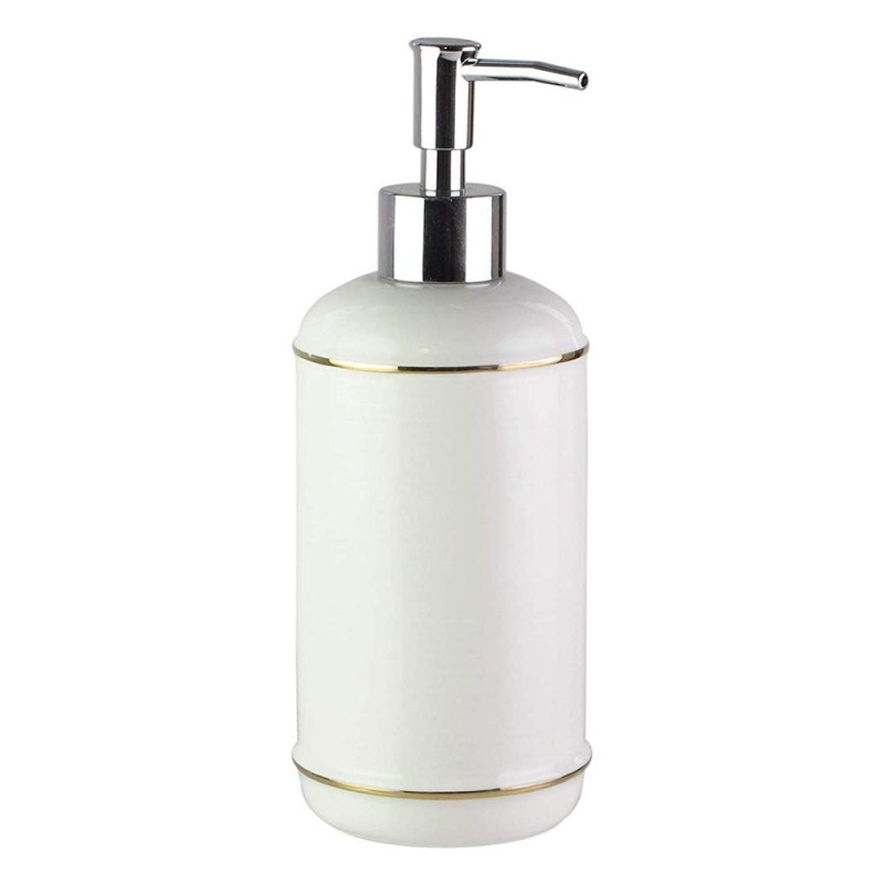 American Atelier Ceramic Lotion/Soap Dispenser - White with Gold