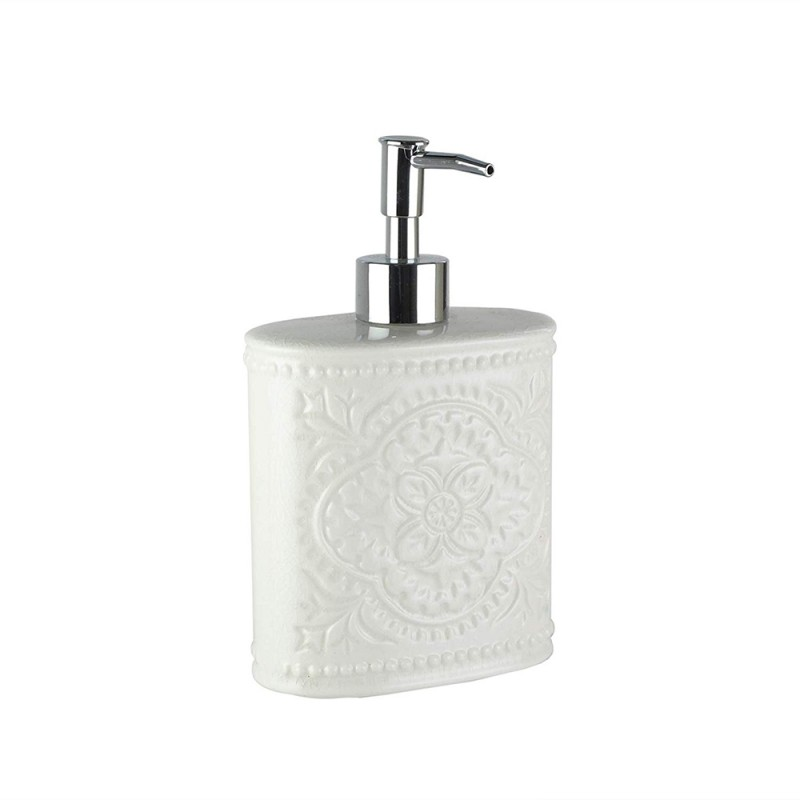 American Atelier 1184592 Bianca Cream Crackle Ceramic Lotion/Soap Dispenser
