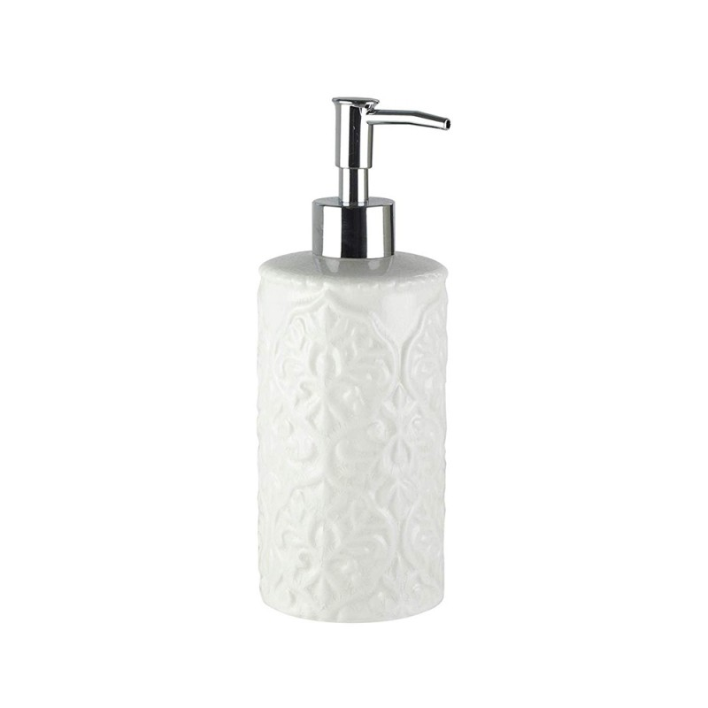 American Atelier 1184602 Bianca Cream Crackle Ceramic Lotion/Soap Dispenser