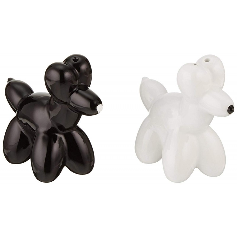 American Atelier Dogs Salt and Pepper Shakers, Black and White