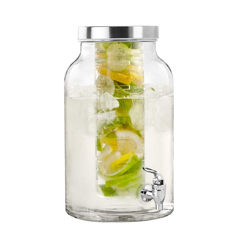 Style Setter Lexington Glass Beverage Dispenser with Infuser, 1.5 Gallons