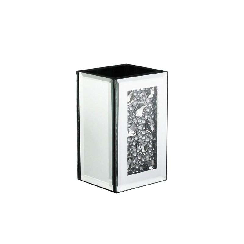 American Atelier Mirror Toothbrush Holder, with Jewel Accent